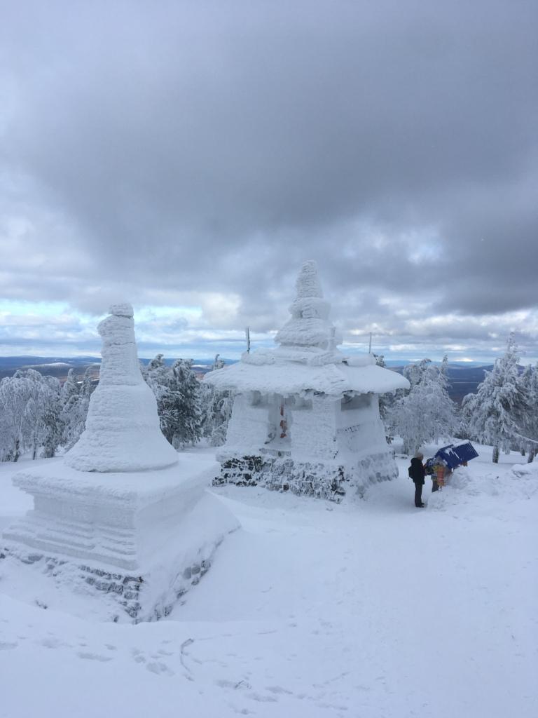 Буддийский монастырь на Качканаре в феврале 2020